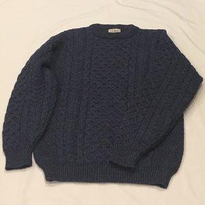 L.L. Bean Dark Blue Knitted Sweater